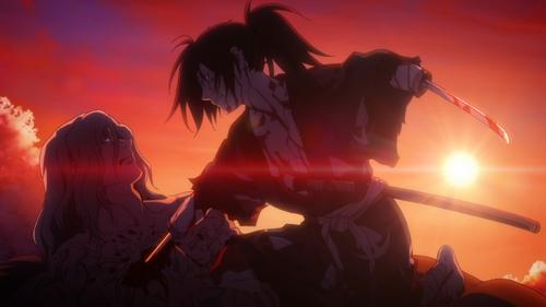Hyakkimaru kills Saburota from the anime series Dororo