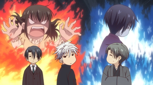 Kagura, Akito, Hatori, Hatsuharu, and Shigure Souma from the anime series Fruits Basket