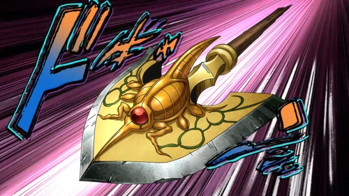 A Stand Arrow from the anime series JoJo's Bizarre Adventure Part 5: Golden Wind