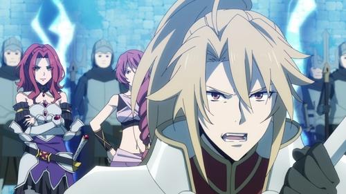 Motoyasu and Myne from the anime series The Rising of the Shield Hero