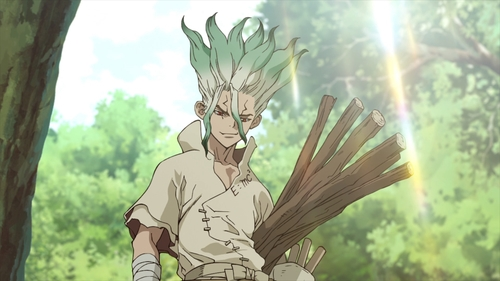 Senkuu from the anime series Dr. Stone