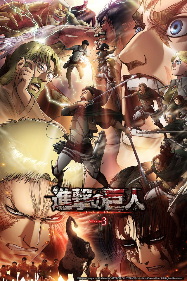 Attack on Titan Season 3 Part 2 anime series cover art