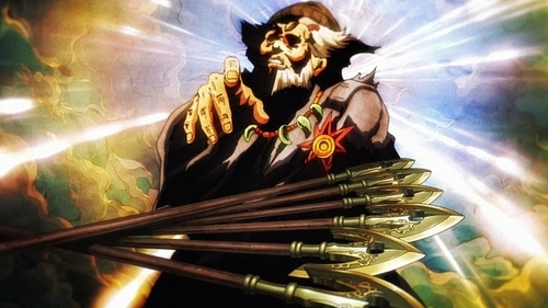 The stand arrows and their creator from the anime series JoJo's Bizarre Adventure Part 5: Golden Wind