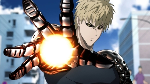 Genos from the anime series One Punch Man 2nd Season