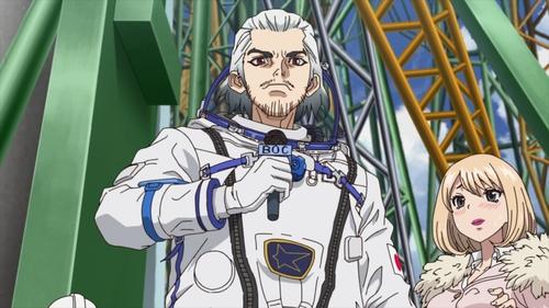 Byakuya Ishigami from the anime series Dr. Stone