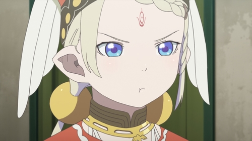 Tilarna Exedilica pouting from the anime series Cop Craft