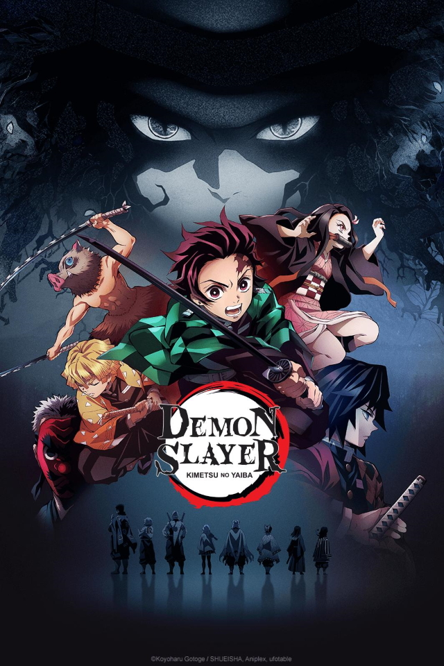 Demon Slayer: Kimetsu no Yaiba anime series cover art