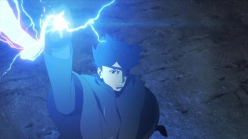 Sasuke using Kirin from the anime series Boruto: Naruto Next Generations