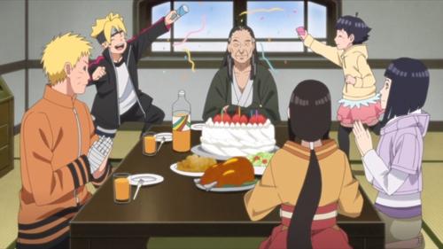 Hiashi Hyūga's birthday party from the anime series Boruto: Naruto Next Generations