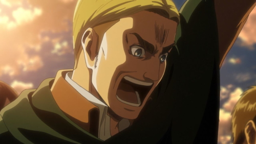 Commander Erwin Smith from the anime series Attack on Titan season 3 part 2