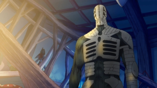 Golem's cracking body from the anime series Somali and the Forest Spirit