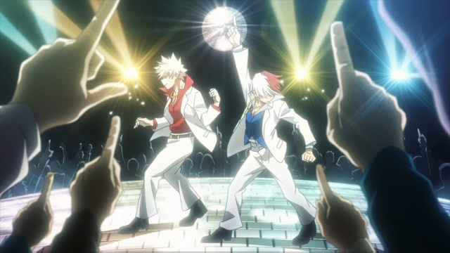 Bakugo and Todoroki (Disco version) from the anime series My Hero Academia season 4
