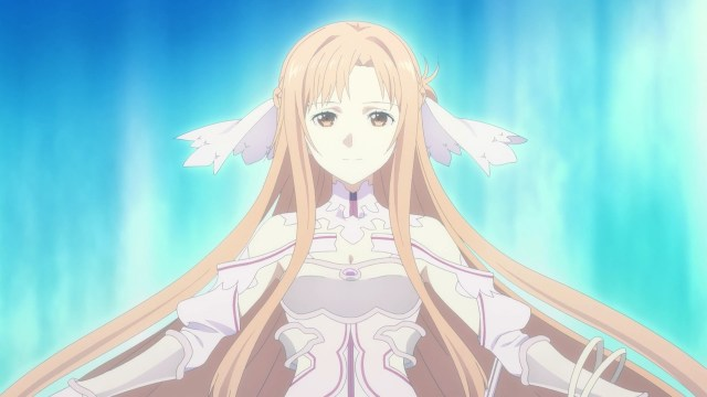 Asuna as the goddess Stacia from the anime series Sword Art Online: Alicization - War of Underworld