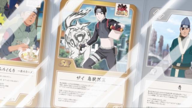 Shinobi trading cards from the anime series Boruto: Naruto Next Generations