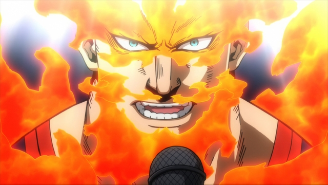 Number one hero Endeavor from the anime series My Hero Academia season 4