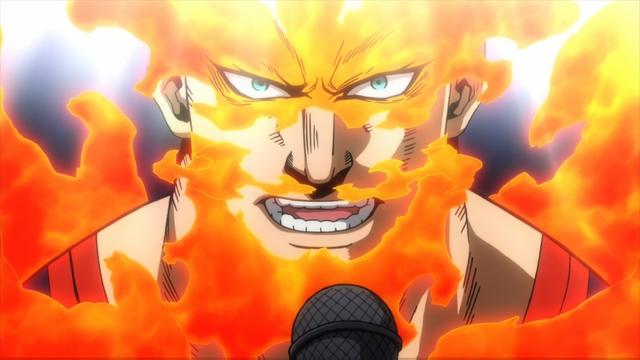 Number one hero Endeavor from the anime series My Hero Academia season 4