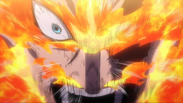 Pro hero Endeavor from the anime series My Hero Academia season 4