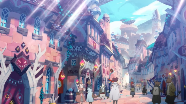 "A ""Grotesque"" town from the anime series Somali and the Forest Spirit"