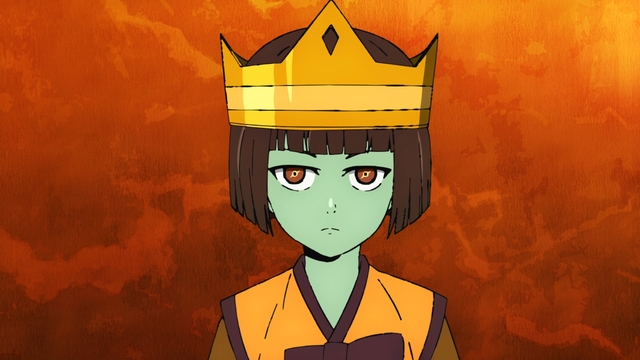 Anaak wearing the crown from the anime series Tower of God