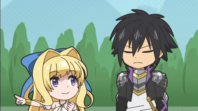 Ristarte and Seiya (Cautious Hero: The Hero Is Overpowered but Overly Cautious) from the anime series Isekai Quartet 2