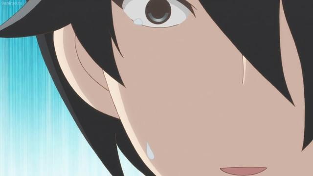 Kakushi crying from the anime series Kakushigoto