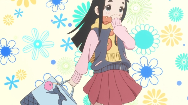 Hime dressed up to go to a birthday party from the anime series Kakushigoto