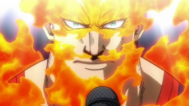 Endeavor from the anime series My Hero Academia season 4