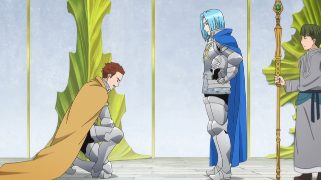 The head priest and Karstedt of the Knight Order from the anime series Ascendance of a Bookworm season 2