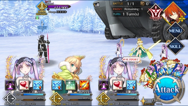 Euryale(s) and Artoria Archer vs. Sigurd from the game Fate/Grand Order: Lostbelt No. 2 - Götterdämmerung