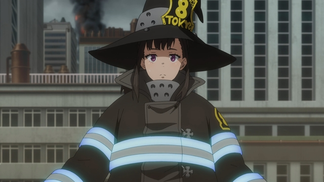 Maki Oze from the anime series Fire Force season 2