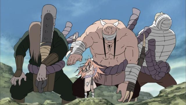 Tayuya controlling the Doki from the anime series Naruto: Shippuden