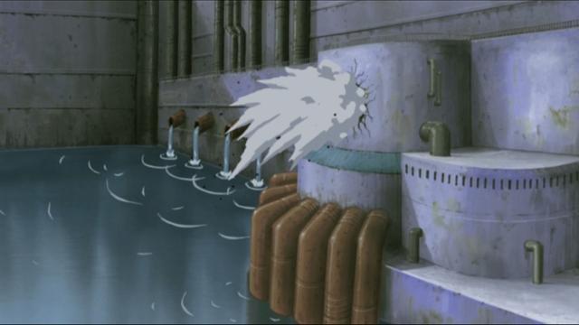 The Hidden Rain Village from the anime series Naruto: Shippuden