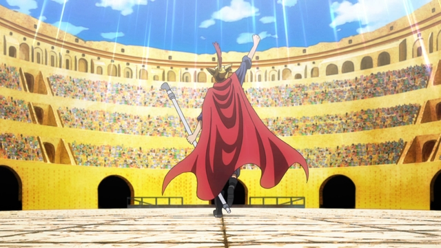 Sabo in the Corrida Colosseum from the anime series One Piece
