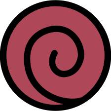 The Uzumaki clan's symbol from the anime series Naruto