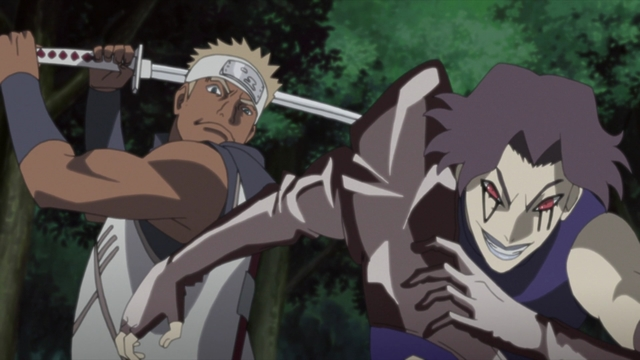 Kakui vs. Deepa from the anime series Boruto: Naruto Next Generations