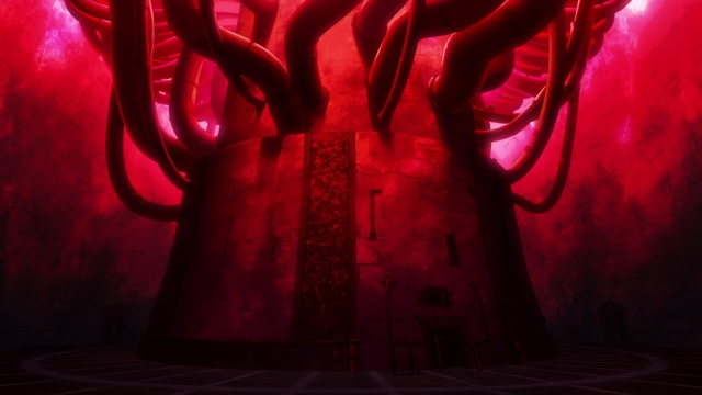 The Tabernacle's core from the anime series Fire Force season 2