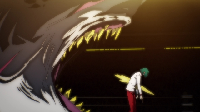 Jegal Taek's Charyeok attacking Jeon Jugok from the anime series The God of High School