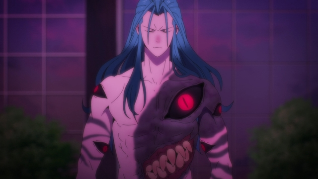 Impoverished shark boy, Jegal Taek from the anime series The God of High School