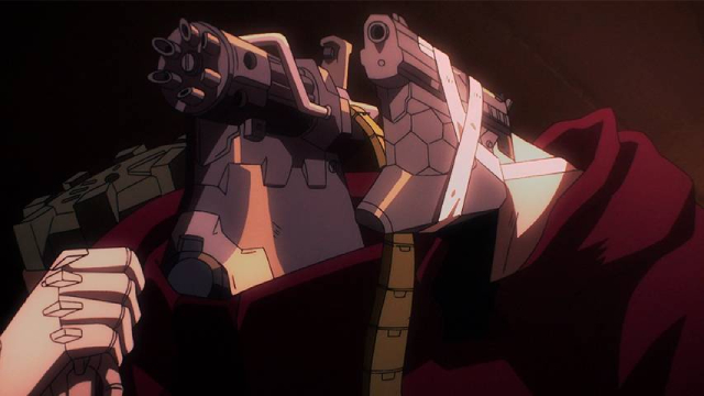 Five and Twelve from the anime series No Guns Life 2nd Season