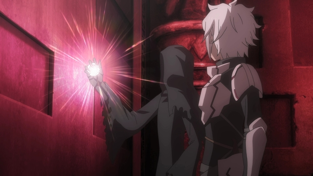 Bell and Fels entering Knossos from the anime series DanMachi III