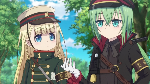 Iyo and Riiko from the anime series Rail Romanesque