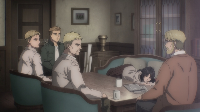 Marley's Warriors (and Colt) from the anime series Attack on Titan: The Final Season