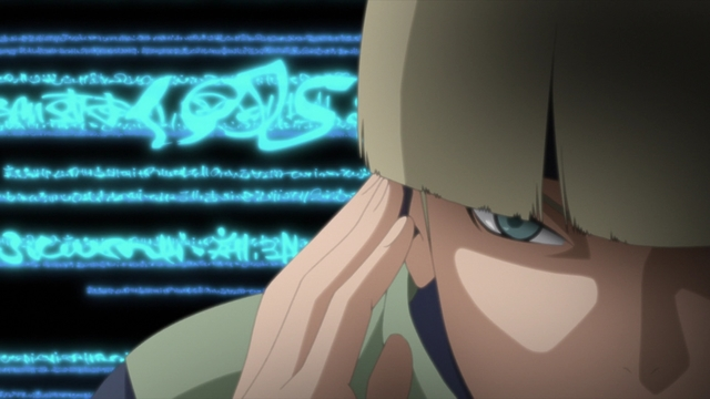 Kohan Yamanaka receiving information from the sensory HQ from the anime series Boruto: Naruto Next Generations