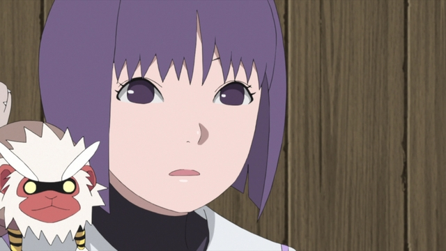 Sumire and Nue from the anime series Boruto: Naruto Next Generations