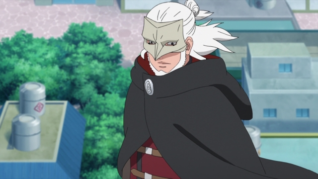 Koji Kashin entering the Leaf Village from the anime series Boruto: Naruto Next Generations