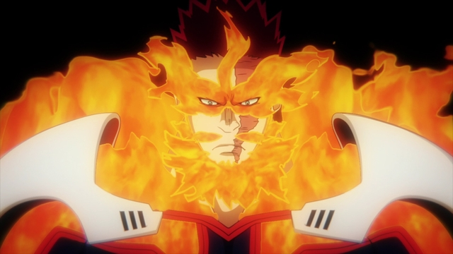 Number 1 Hero: Endeavor from the anime series My Hero Academia Season 5