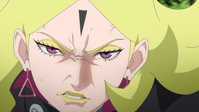 Delta getting fed up with Koji from the anime series Boruto: Naruto Next Generations