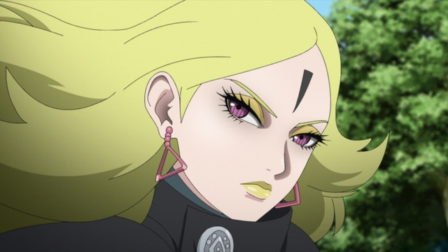 Delta looking like a queen from the anime series Boruto: Naruto Next Generations