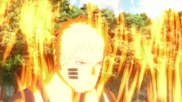 "Naruto going ""all out"" from the anime series Boruto: Naruto Next Generations"