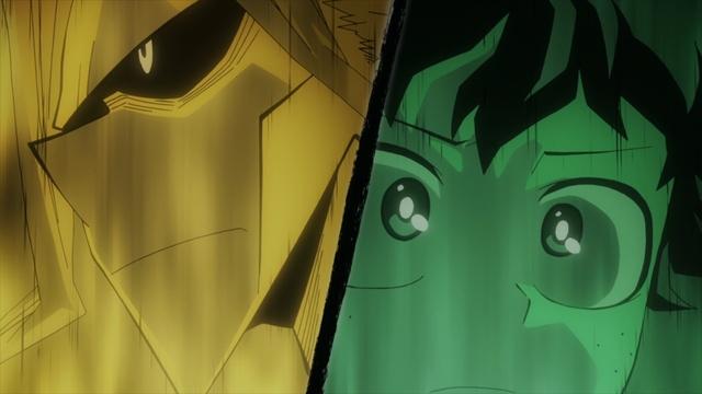 All Might and Deku from the anime series My Hero Academia Season 5